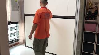 HDB 5 Room. Hidden Bed HWB® S.Single Horizontal +Top Storage Cabinets.HWB HUB.BTO.EC.DBSS