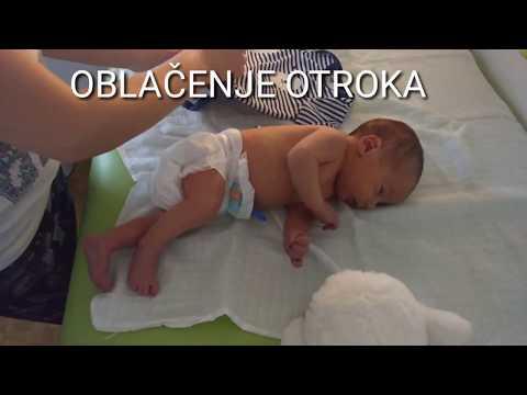 Baby handling - oblačenje novorojenčka