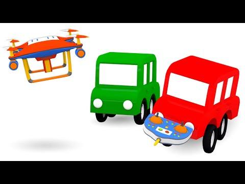 Мультики для малышей - 4 машинки и КВАДРОКОПТЕР - Развивающие мультфильмы про машинки