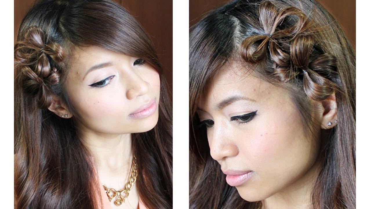 flower hair bow tutorial medium