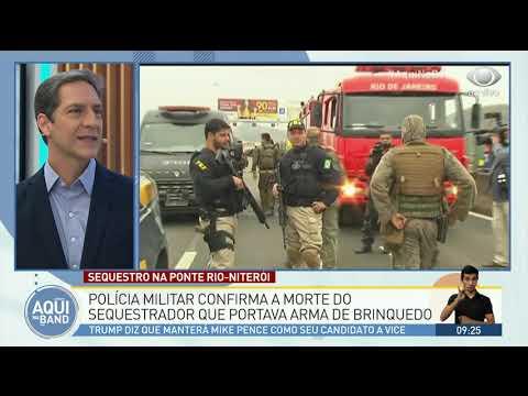 Polícia confirma morte de sequestrador na ponte Rio-Niterói
