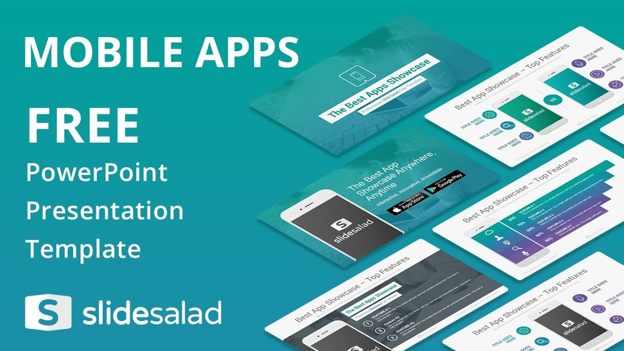mobile apps free powerpoint presentation template slidesalad youtube