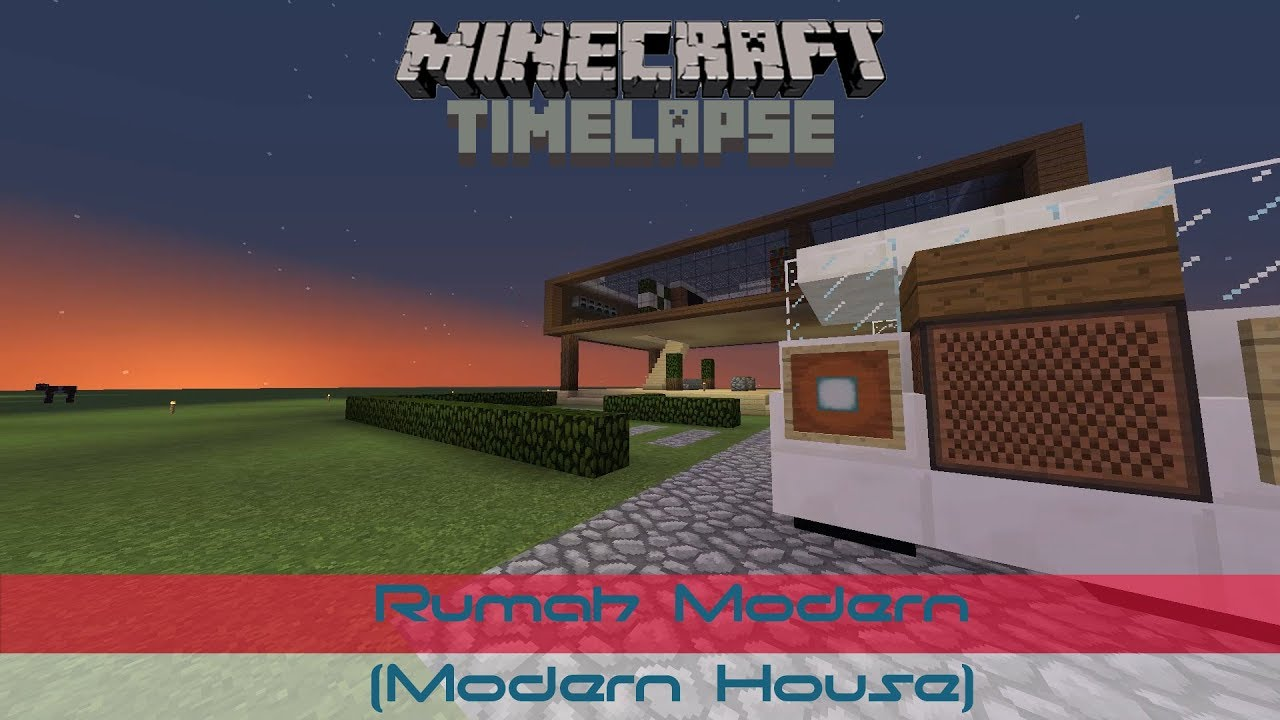 Minecraft Timelapse Indonesia Rumah Modern Modern House YouTube