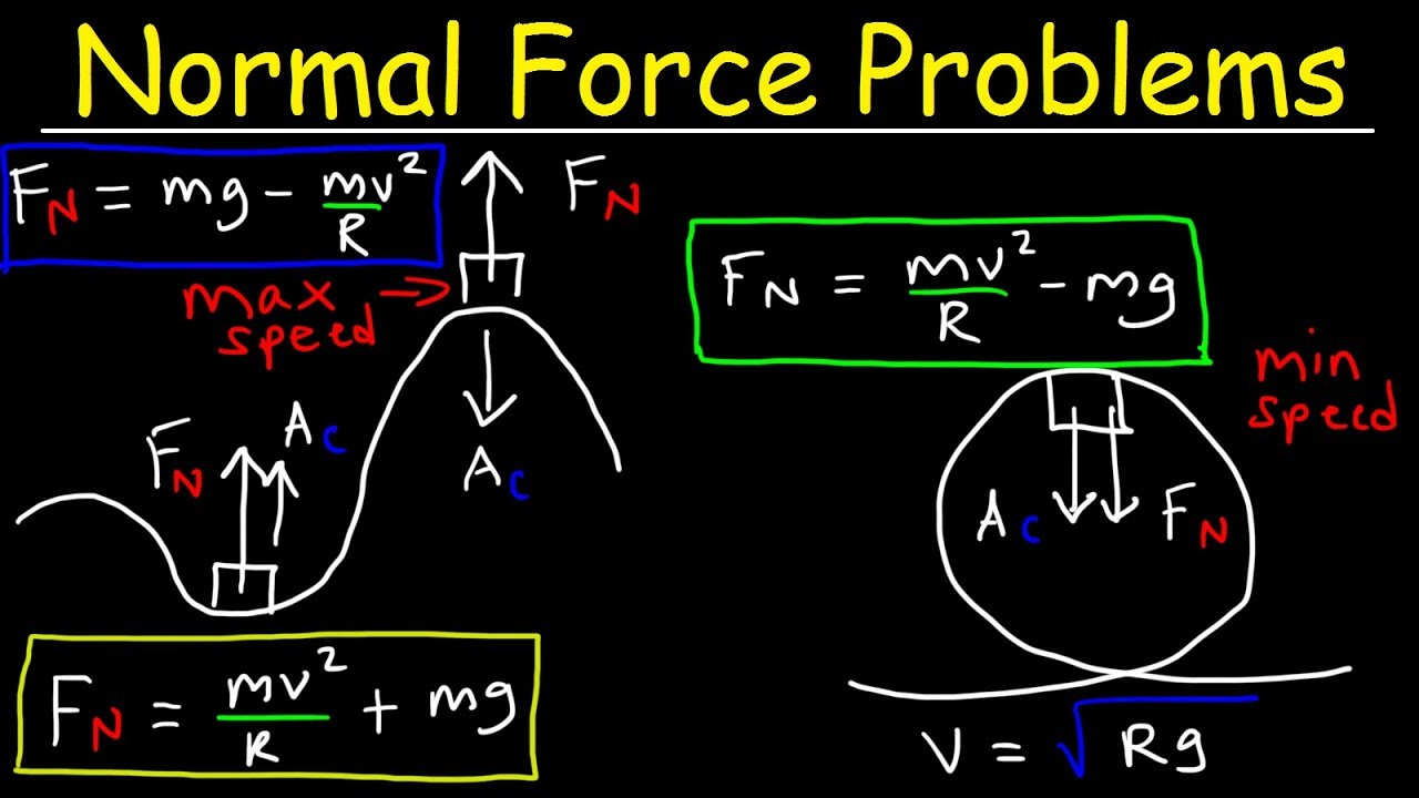 Normal Force on a Hill, Centripetal Force, Roller Coaster