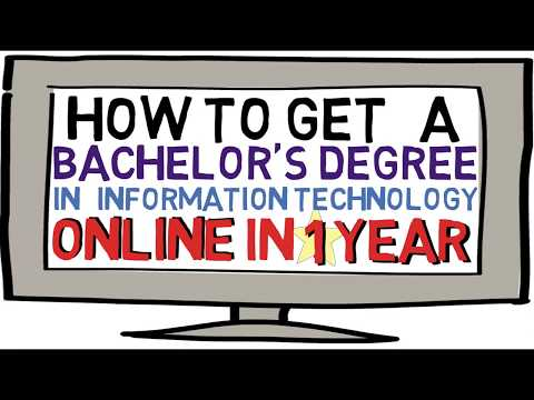 How to get a Bachelor's Degree in IT in 1 Year ONLINE!