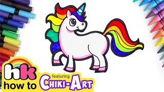 Learn How to Draw, Color and Paint Unicorn | HooplaKidz How To