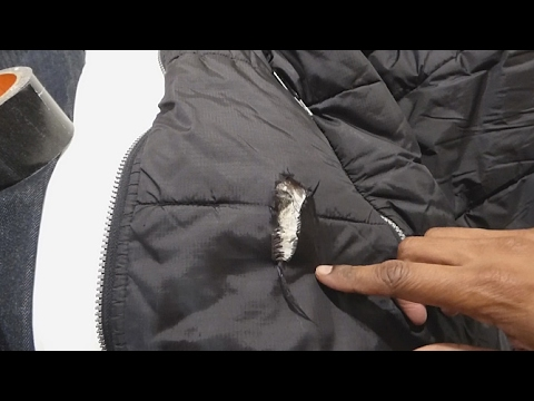 Temporary Fix Hole In Winter Jacket With Tape