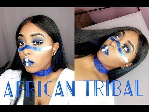 African Tribal Halloween Makeup [Khali Lane]