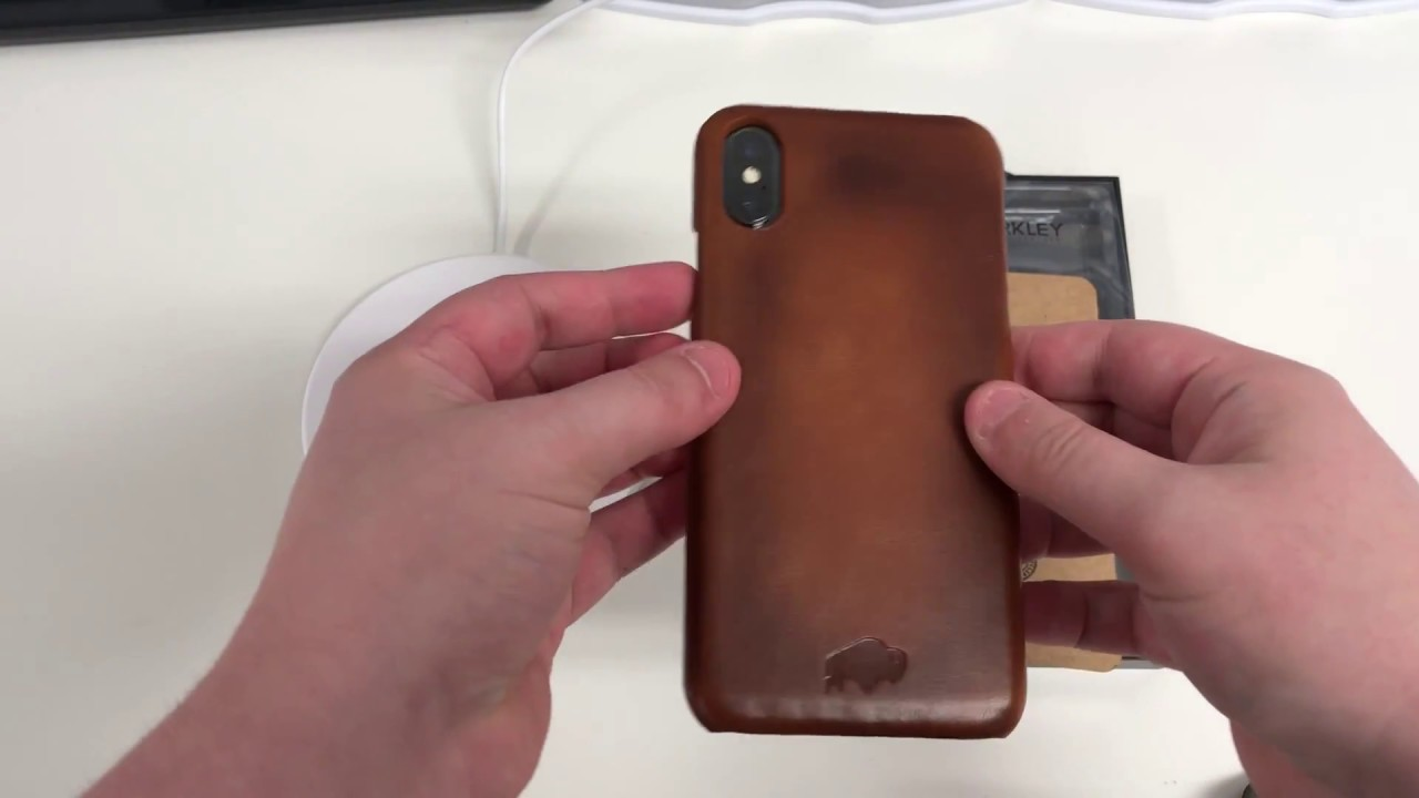 brand new 796ba 30635 Burkley Snap-on Back Cover Case for Apple iPhone X / XS - Burnished Tan  Leather