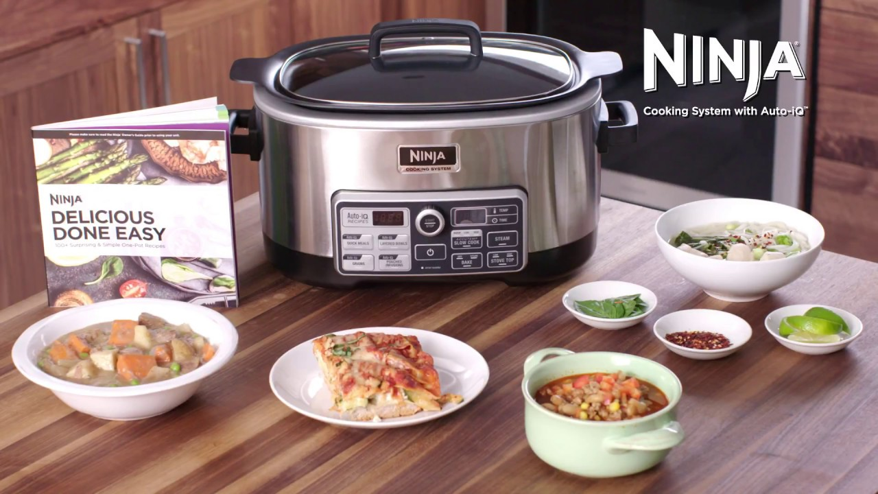How To Use Your Ninja Cooking System Auto Iq Functions Cs960 Series Youtube
