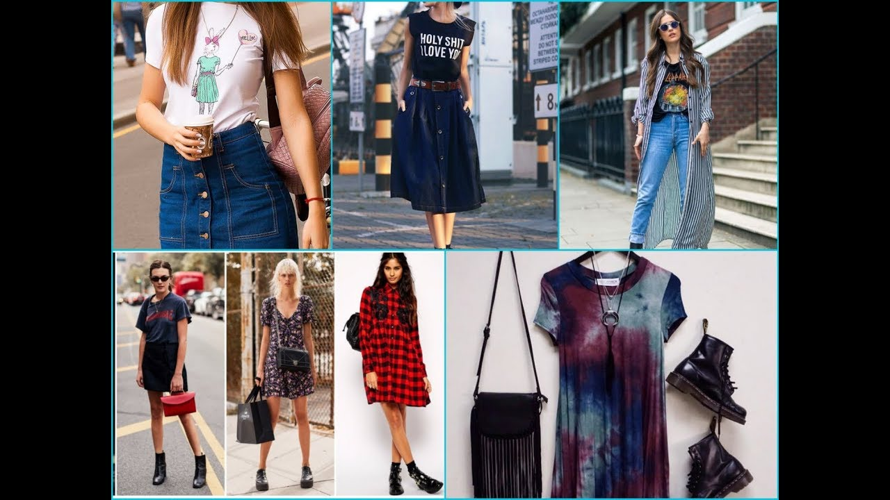 5cd9d2dc386d How to Dress Grunge  Spring Summer Grunge Fashion Trend 2018 - YouTube