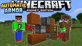 AUTOMATIC ARMOR DISPENSER in MCPE!!! - 0.16.0 Redstone Creation - Minecraft PE (Pocket Edition)