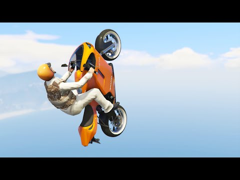ALMOST IMPOSSIBLE FLYING BIKE RACE! (GTA 5 Funny Moments)