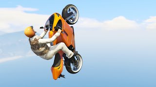 almost impossible flying bike race gta 5 funny moments