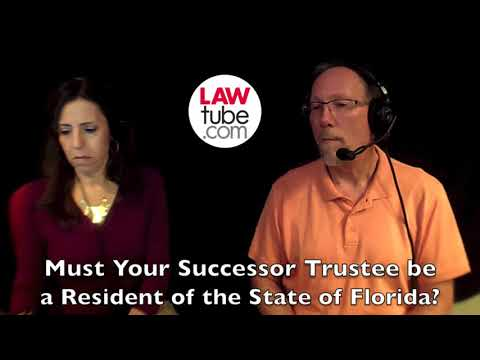Must your successor trustee be a resident of the state?
