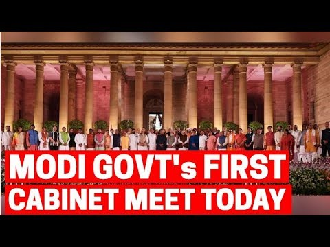 All-new Narendra Modi govt to hold its first Cabinet meet today