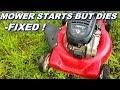 Fixing a Mower that starts but then dies