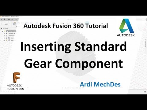 Autodesk Fusion 360 Tutorial - How to Insert Standard Spur Gear