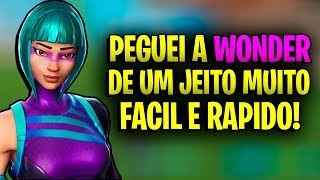 HOW TO GET SKIN WONDER AT FORTNITE FACIL AND RAPIDO