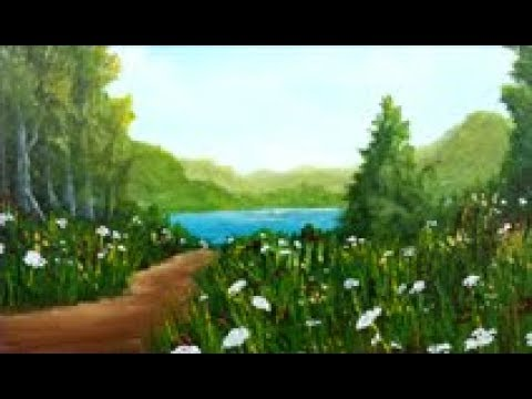 Acrylic Painting Tutorial – Path to the Lake