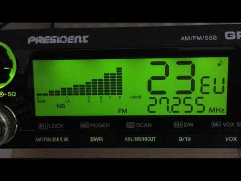 CB Radio; 11 meters skip with some stations from abroad 16/06/2017