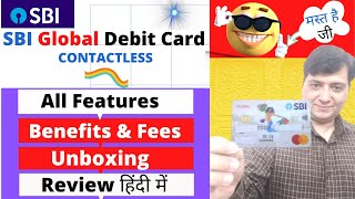 SBI GLOBAL Debit Card unboxing 2021 | All Features , Benefits, Fees & Charges IN HINDI