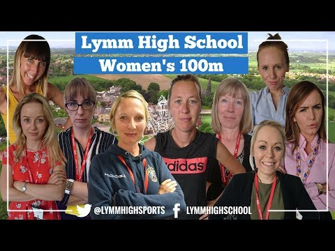 Lymm High School Staff Women's 100m Final. Can you beat us? How fast are you?
