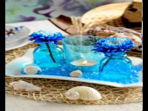 beach themed wedding decorations themed wedding table decoration ideas 1558