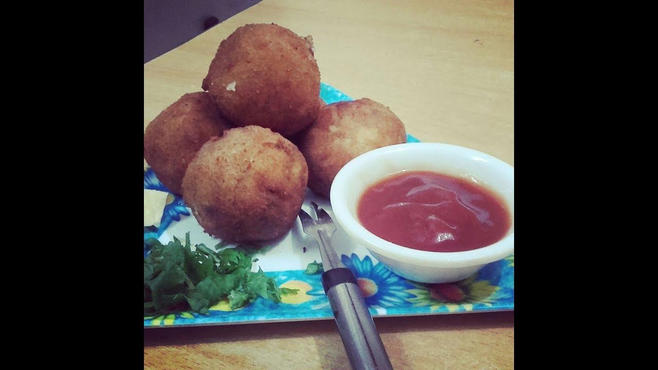 Cheese balls / Cheesy snacks/ Potato cheese balls/ Bread ...