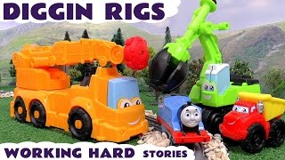 thomas and friends play doh diggin rigs accident crash toys rescue toy story and paw patrol rescue