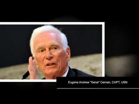 funeral photos of Eugene Cernan last human to walk on the Moon dead
