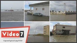 مياه البحر تغرق قرية ببورسعيد وعمدتها: نشتكي لله