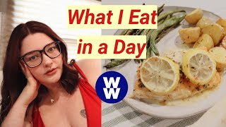 WHAT I EAT IN A DAY ON WW BLUE FOR WEIGHT LOSS!!