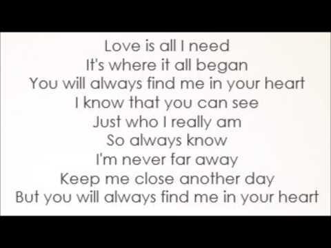 Smurfs 3 - Shaley Scott - You Will Always Find Me In Your Heart (Lyrics)