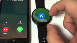 Android wear works with iOS/iPhone v0.2 release.