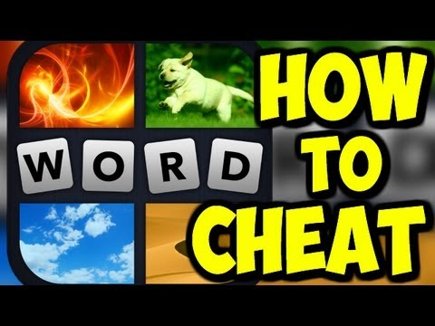 4 Pics 1 Word - HOW TO CHEAT - Part 2 (iPhone Gameplay Video / 4 Pics 1 Word Cheats)