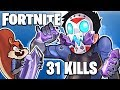 FORTNITE BR - METEOR CRATER AND POWERS! (Best Duo Match!) 31 Kills! With Bday ART!