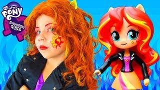 КОСПЛЕЙ САНСЕТ ШИММЕР! 🔥 My Little Pony Макияж в стиле Девочки из Эквестрии полная трансформация!