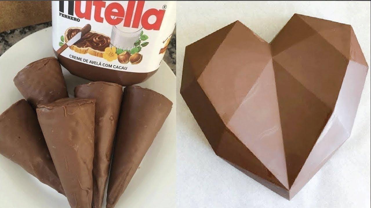 10+ Indulgent Chocolate Heart Cake Recipes 💓 So Yummy Chocolate Cake Decorating Ideas 💓 Tasty Choice
