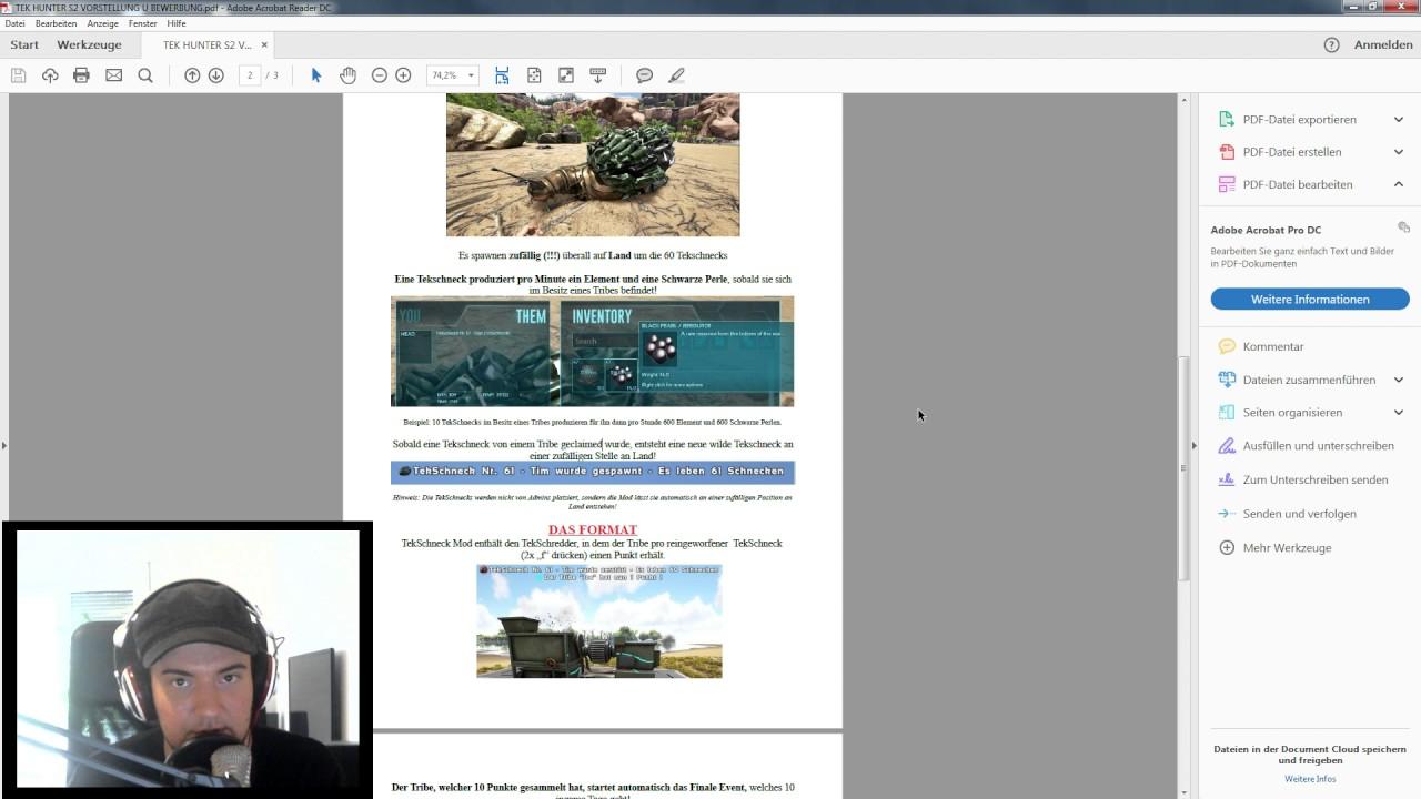 Ark Tek Hunter S2 Vorstellung Bewerbung Das Bewerbungsschreiben Pdf