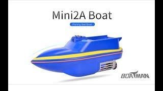 Кораблик для рыбалки BOATMAN Mini 2A, завоз снастей и прикормки. Видео обзор -Часть 1