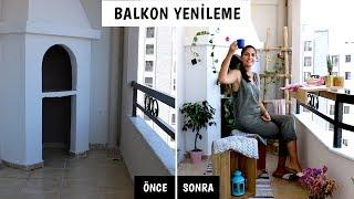 Küçük Balkon Yenileme | Kendin Yap Dekorasyon Fikirleri