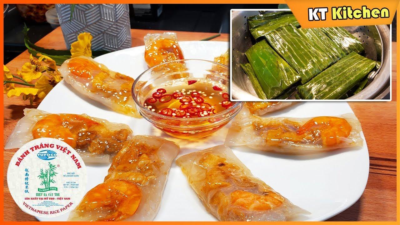 Cách Làm BÁNH BỘT LỌC Bằng Bánh Tráng Việt Nam Không Cần Nhồi Bột – Clear Shrimp and Pork Dumplings