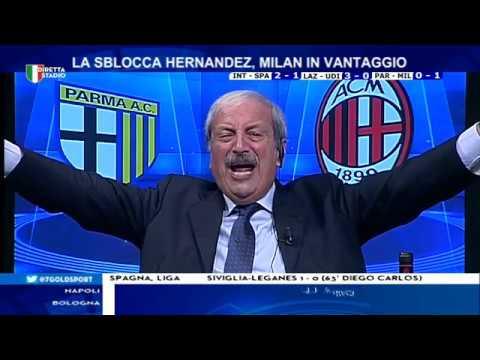 Parma Milan 0-1 con Tiziano Crudeli - YouTube