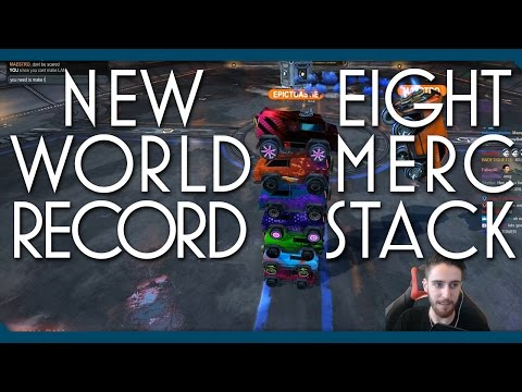 NEW WORLD RECORD | 8 Merc Stack | Tallest Car in Rocket League