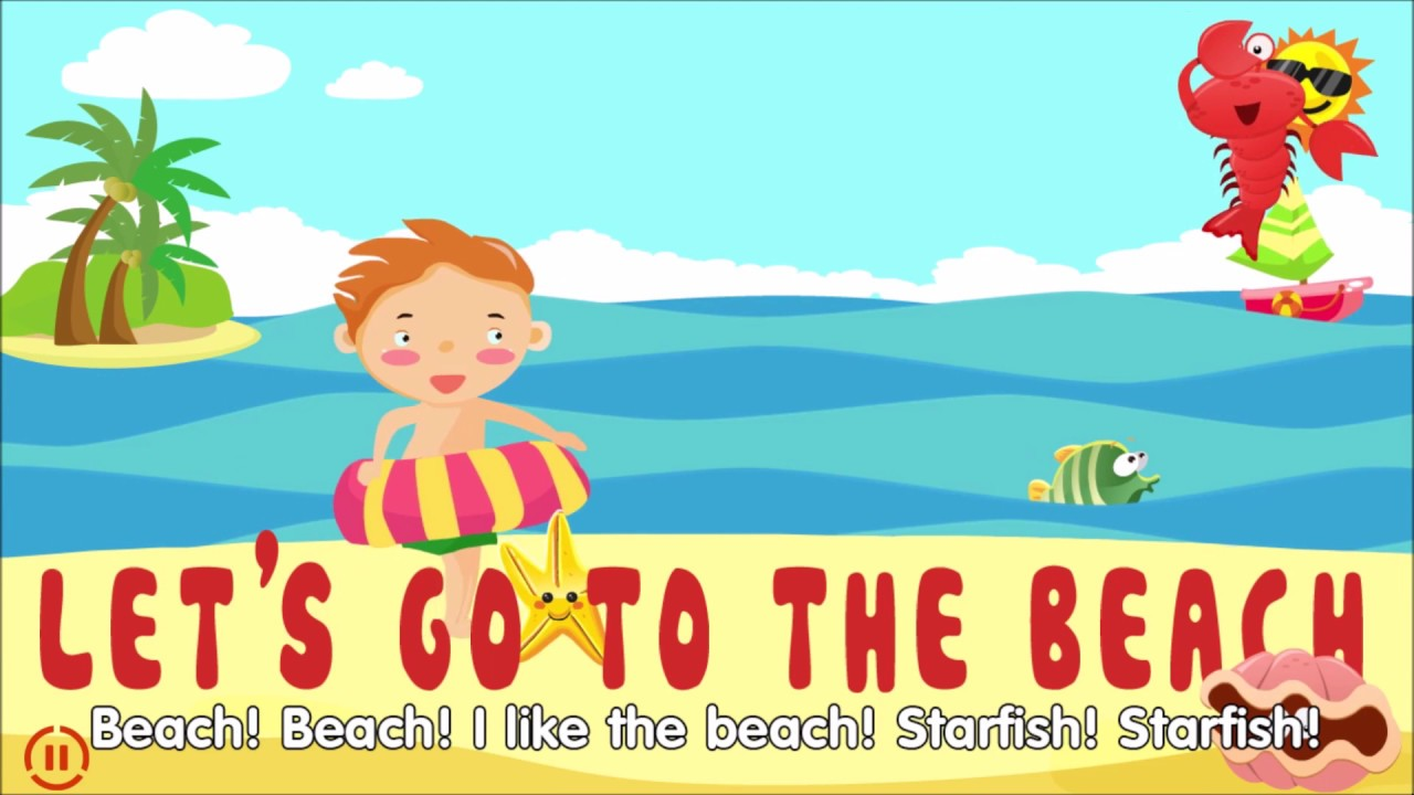 let 39 s go to the beach english songs for kids youtube. Black Bedroom Furniture Sets. Home Design Ideas