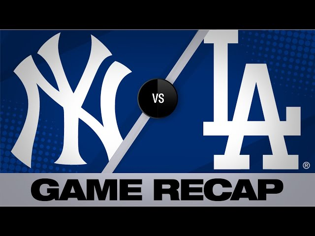 Turner, bullpen lift Dodgers past Yankees | Dodgers-Yankees Game Highlights 8/24/19