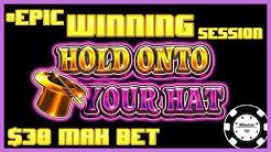 🔒HIGH LIMIT Lock It Link Hold Onto Your Hat EPIC WINNING SESSION 🔒$30 MAX BET BONUS Slot Machine