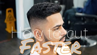 How to do a Fade FASTER - BARBER TUTORIAL