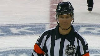 NHL referee Wes McCauley makes you wait for the video review call